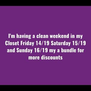 CLEANING WEEKEND DONT MISS IT 😘🥰🥳💃🏼👗👙👠👜💍